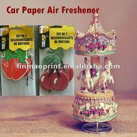 Fruit Scent Hanging paper car air freshener for Promotion
