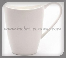 12 oz White Coffee Cups Mugs Bone China