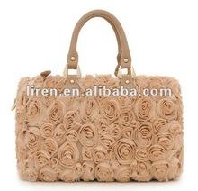 New Fashion Multi Color Ladies' Handbags With Flowers Fashion Lates Ladies Handbag
