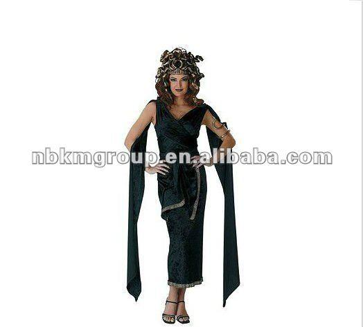2012 medusa de la mujer para adultos traje de fiesta