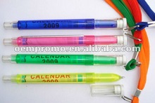 cheap customized banner pen with rope