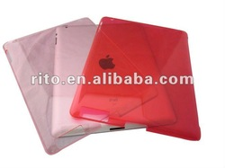 Pink PC Crystal Hard Shell Case for IPad 2 in 11 colors option