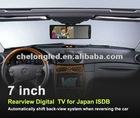 "Newest 7"" sunvisor lcd car tv for Japan ISDB"