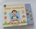 Sonido libro para niños con botón de la música botones