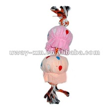 UW-054 lovely pink cotton pet training toy for dogs