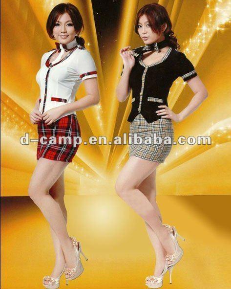 Sexy girls hotel uniforms bar waitress costume
