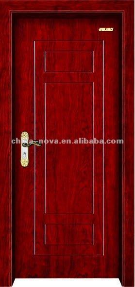 Baño De Color Rojo Fuego:sólido motor de fuego de color rojo madera puerta de madera-Puerta