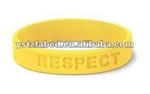 Hope Sunshine Creativity Yellow Round Silicone Bracelet
