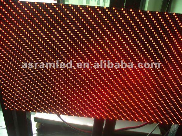 aibaba express P7.625 red led dot matrix display board