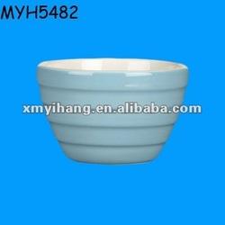 Designed porcelain light blue deep soup bowl