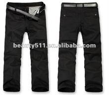 2012 wholesale black linen men's trousers CAP005