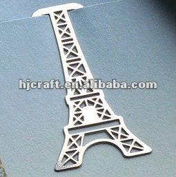 mini metal bookmark clip FRANCE PARIS TRAVEL eiffel tower french decor souvenir
