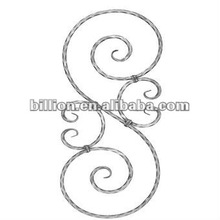 2012 china manufacture powder coated wrought iron staircase railing part