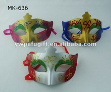 plastic carnival party mask with glitter