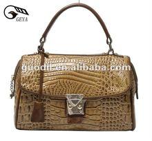 New Fashion 2012! Mini Lady CROCO Genuine Leather Handbag