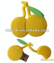 Cheapest cherry shaped usb flash drive, sweet cherry shaped usb flash, cherry usb key, cherry usb pen drive, cherry pen drive