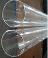 claro tubo de quartzo para o semicondutor ea energia solar