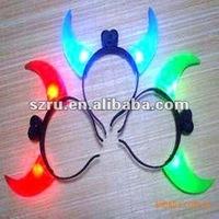 2012 New LED flashing horn head band wholesale