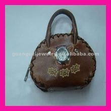 fashion newest zipper mini gold coin watch purses and handbags