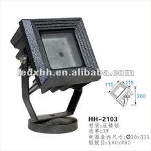 3W waterproof flood light aluminium housing HH-2103