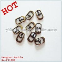 antique brass small shoe pin buckles