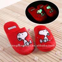 plush night snoopy slippers