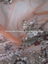 fancy tulle with spangle embroidery fabric for dresses