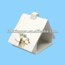 porcelain house shaped bird feeder