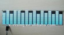 High quality White blue gradually color el car stickers 2012