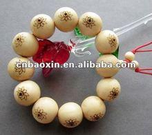Wood tibetan malas beads bracelet