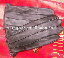 2012 fashion black men winter genuine sheepskin leather gloves