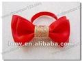 Rouge beauté cheveux arc pour les jeunes filles avec un élastique