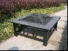 Outdoor fire pit Table with ceramic tiles