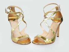 Beautiful golden ladies summer sandals for women 2012