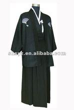MENS Vintage Yukata Japanese Kimono Costume Dress with Obi
