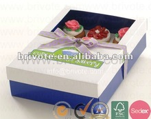 Hot sale paper cupcake box with window