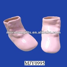BABY SHOES HIGH BUTTON CERAMIC PAIR SHOES