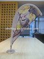 2010 nuevos productos mini mesa de lágrima pluma bandera banderas