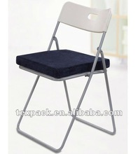 Memory Foam Square Chair Cushion/Seat Pad with Easy Care Cover