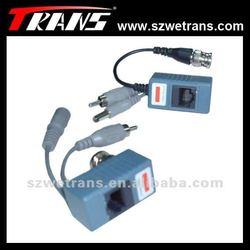 TRNANS 1CH Transmitter and Receiver Video,DC12V,Audio or RS485,RJ45 port,Video Balun TR-LR206AB