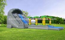 hot sale palm tree kiddie inflatable slide castle