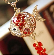 fish necklace high end fashion necklace 2012