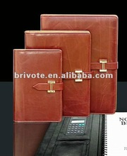 Italian leather notebook with calcalator 2012