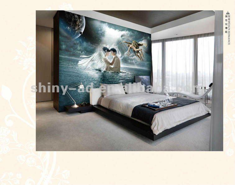 Decorazioni romantiche della parete della camera da letto - Decorazioni camera da letto ...