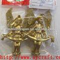De plástico de oro de color ángel de la navidad