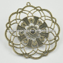 Retro polygon beautiful alloy pendant antique