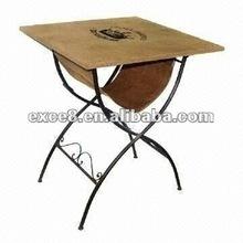 112324NC-Patio furniture square metal table w/jute bag