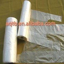 HDPE /LDPE disposable transparent T shirt bag