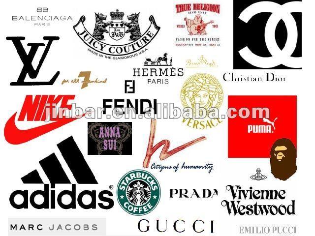 las etiquetas de moda los nombres de marca logotipos-Etiquetas de ...