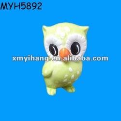 Lovely painted ceramic little owl figure